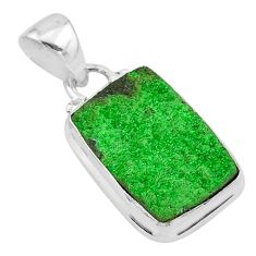 10.76cts natural green uvarovite garnet 925 sterling silver pendant t1941