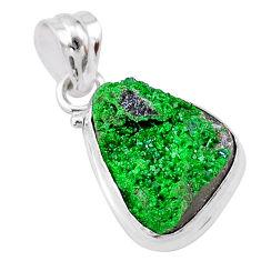 10.23cts natural green uvarovite garnet 925 sterling silver pendant t1965