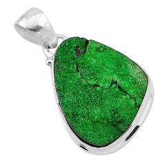13.70cts natural green uvarovite garnet fancy 925 sterling silver pendant t1933