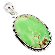 15.02cts natural green variscite 925 sterling silver pendant jewelry r20056