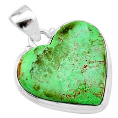 17.22cts natural green variscite 925 sterling silver pendant jewelry t13322