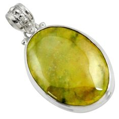 Clearance Sale- 24.00cts natural green vasonite 925 sterling silver pendant jewelry d41221