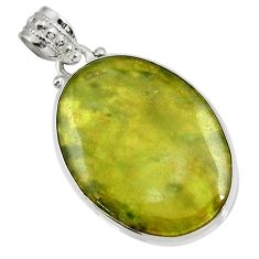 Clearance Sale- 22.02cts natural green vasonite 925 sterling silver pendant jewelry d41235