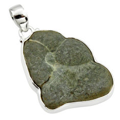 32.14cts natural grey fairy stone 925 sterling silver pendant jewelry r36045
