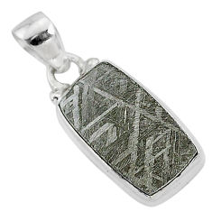 8.09cts natural grey meteorite gibeon 925 sterling silver pendant jewelry r95361