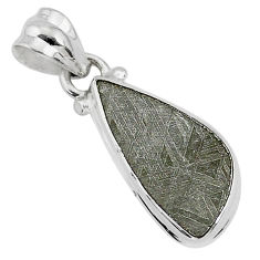 5.85cts natural grey meteorite gibeon 925 sterling silver pendant jewelry r95362