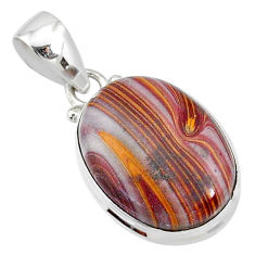 13.70cts natural heckonite rainbow 925 sterling silver pendant jewelry r72926