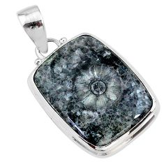 17.22cts natural horn coral 925 sterling silver pendant jewelry t18318