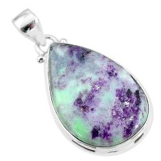17.22cts natural kammererite 925 sterling silver pendant jewelry t18623