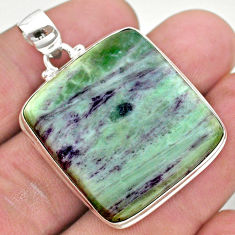 39.67cts natural kammererite 925 sterling silver handmade pendant jewelry t42700