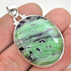 37.38cts natural kammererite 925 sterling silver pendant jewelry t42701