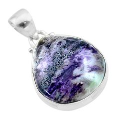14.72cts natural kammererite 925 sterling silver handmade pendant jewelry t46018