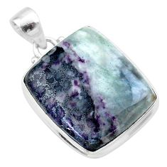 22.02cts natural kammererite 925 sterling silver pendant jewelry t46046
