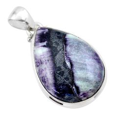 19.72cts natural kammererite 925 sterling silver pendant jewelry t46048