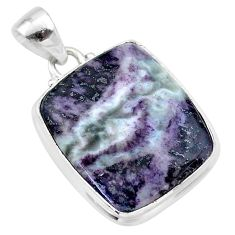 19.20cts natural kammererite 925 sterling silver handmade pendant jewelry t46052