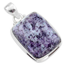 22.49cts natural kammererite 925 sterling silver handmade pendant jewelry t46054