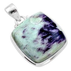 20.51cts natural kammererite 925 sterling silver pendant jewelry t46057