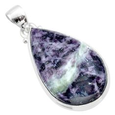 23.46cts natural kammererite 925 sterling silver pendant jewelry t46061