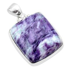 30.35cts natural kammererite 925 sterling silver pendant jewelry t46073