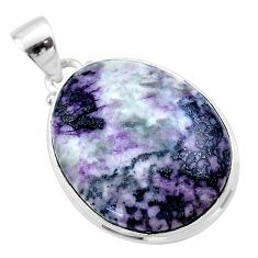 22.02cts natural kammererite 925 sterling silver handmade pendant jewelry t46077