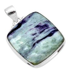 21.42cts natural kammererite 925 sterling silver pendant jewelry t46080
