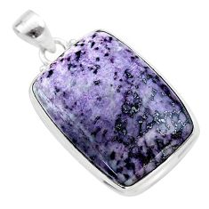 31.53cts natural kammererite 925 sterling silver pendant jewelry t46081