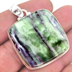 52.03cts natural kammererite 925 sterling silver handmade pendant jewelry t46220