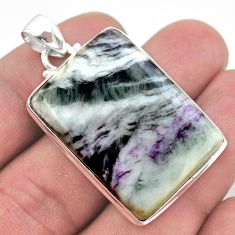 Handmade 44.16cts natural kammererite 925 sterling silver pendant jewelry t46250