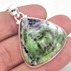 36.57cts natural kammererite 925 sterling silver pendant handmade jewelry t46266