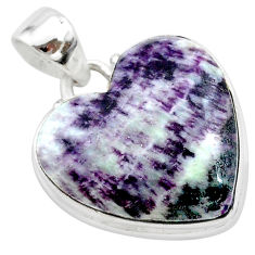 16.20cts heart kammererite heart 925 sterling silver pendant jewelry t23050