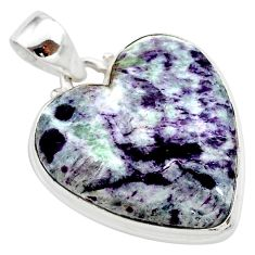 22.05cts heart kammererite heart 925 sterling silver pendant jewelry t23055