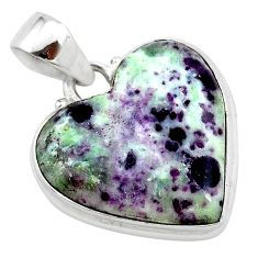 16.53cts heart kammererite heart 925 sterling silver pendant jewelry t23057