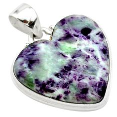 17.57cts heart kammererite heart 925 sterling silver pendant jewelry t23058