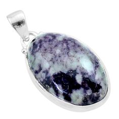 18.68cts natural kammererite oval 925 sterling silver pendant jewelry t46011