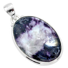 20.88cts natural kammererite oval 925 sterling silver pendant jewelry t46045