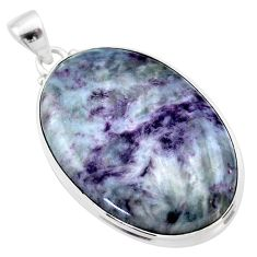 35.36cts natural kammererite oval 925 sterling silver pendant jewelry t46083