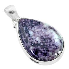 16.70cts natural kammererite pear 925 sterling silver pendant jewelry t46017