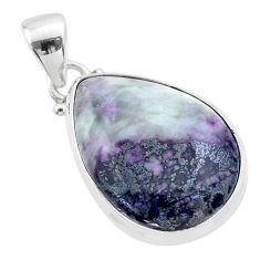 15.65cts natural kammererite pear 925 sterling silver pendant jewelry t46030