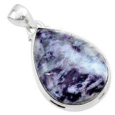18.70cts natural kammererite pear 925 sterling silver pendant jewelry t46062