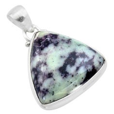16.70cts natural kammererite trillion sterling silver pendant jewelry t46024