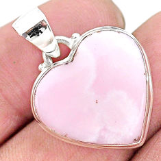 15.65cts natural lace agate 925 sterling silver heart pendantjewelry t13208