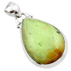 14.35cts natural lemon chrysoprase 925 sterling silver pendant jewelry r46141