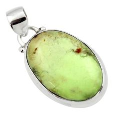 14.07cts natural lemon chrysoprase 925 sterling silver pendant jewelry r46142