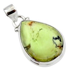 15.72cts natural lemon chrysoprase 925 sterling silver pendant jewelry r46143