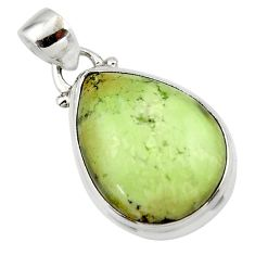 14.90cts natural lemon chrysoprase 925 sterling silver pendant jewelry r46144