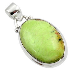 14.30cts natural lemon chrysoprase 925 sterling silver pendant jewelry r46145