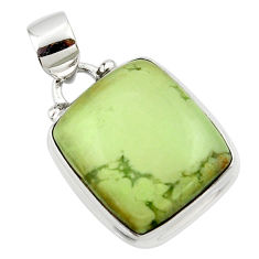 14.15cts natural lemon chrysoprase 925 sterling silver pendant jewelry r46148