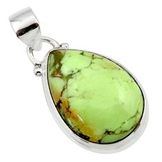 13.67cts natural lemon chrysoprase 925 sterling silver pendant jewelry r46149