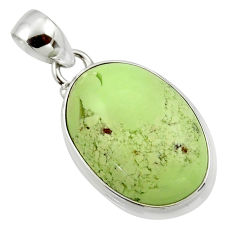 17.45cts natural lemon chrysoprase 925 sterling silver pendant jewelry r46150