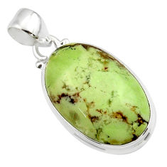 16.05cts natural lemon chrysoprase 925 sterling silver pendant jewelry r46151